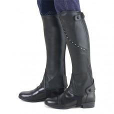 Кожаные краги, Ovation, США, для конного спорта, цвет черный, стразы