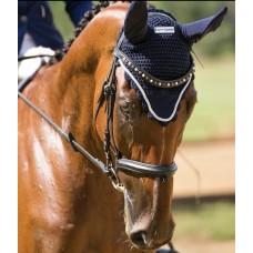 Ушки для лошади  SILVER ROPE, цвет белый, черный, синий Equine Couture