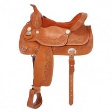 Седло вестерн для лошади, регулируемый ленчик, в сборе, разные цвета