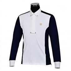 Мужская рубашка-поло George H Morris Champion, США, с длинным рукавом, для стартов