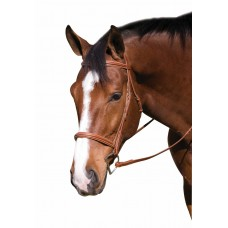 Классическая кожаная уздечка с поводьями, для лошади, Франция