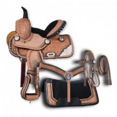 Седло вестерн для шотландского пони + комплект в стиле вестерн